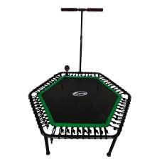 Фитнес-батут SportElite 135см FB-1351 с ручкой и компьютером