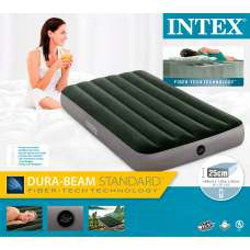 Матрас надувной односпальный 99х191х25см Intex 64107