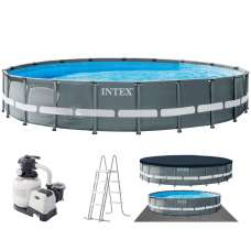 Каркасный бассейн Intex Ultra XTR Frame 26334 (круг) 6,10х1,22м, полный комплект