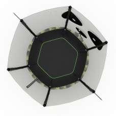 Батут UNIX line 4.6 ft PANDA (140 cm)