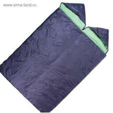 Спальный мешок Maclay, 3-слойный, с капюшоном, увеличенный, 225 х 140 см, не ниже 0 С