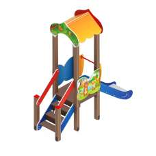 Детский игровой комплекс «Полянка» ДИК 1.16.01 H=750