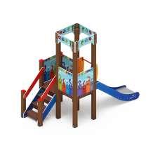 Детский игровой комплекс «Королевство» (Коты) ДИК 1.15.01-01 H=900