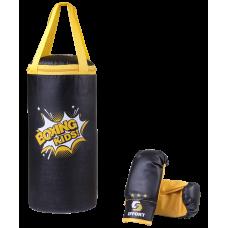 Набор для бокса Effort E1454, кожзам, черный