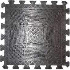 Коврик резиновый, чёрный, толщина 20 мм (400х400)