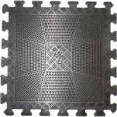Коврик резиновый, чёрный, толщина 12 мм (400х400)