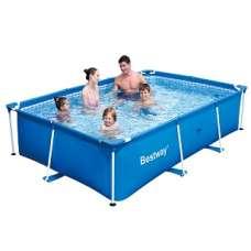 Каркасный прямоугольный бассейн Bestway 56404, 300х201х66 см