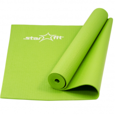 Коврик для йоги fm-101 pvc 173x61x0,4 см, зеленый