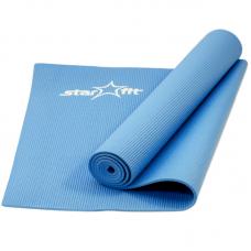 Коврик для йоги fm-101 pvc 173x61x0,5 см, синий
