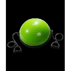 """Полусфера """"BOSU"""" GB-501 с эспандерами, зеленый"""