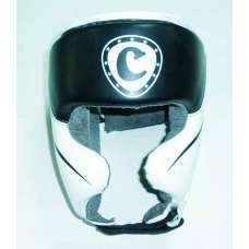 Шлем защитный cliff закрытый бело-черный dx